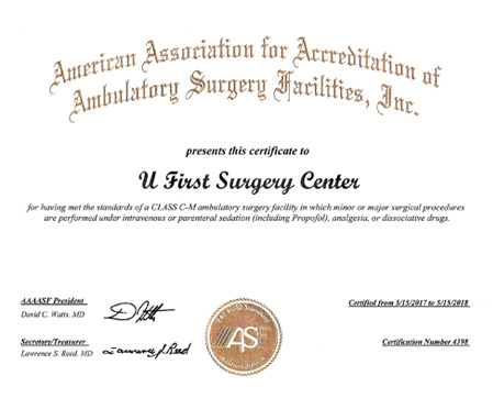 general surgery certificate